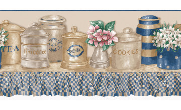 Wallpaper Borders for Kitchen Blue