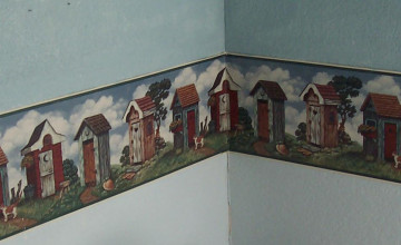 Wallpaper Borders Outhouse Theme