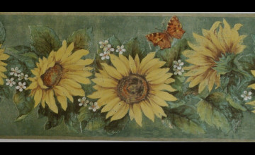 Wallpaper Borders with Sunflowers