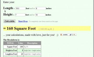 Wallpaper Calculator Square Feet