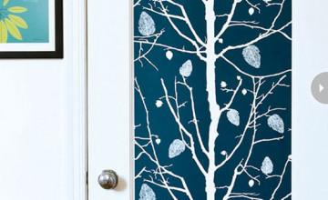 Wallpaper Door Panels