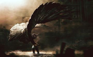 Wallpaper Fallen Angel