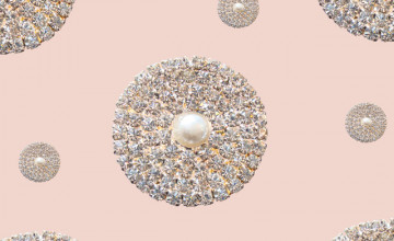 Wallpaper for Walls with Rhinestones