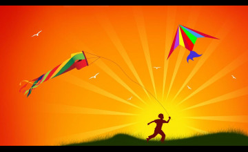 Wallpaper Kite Flying
