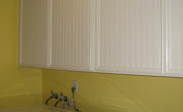 Wallpaper on Laminate Cabinets