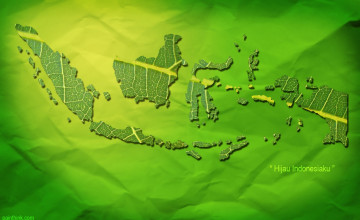 Wallpaper Peta Indonesia