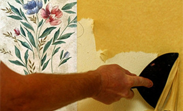 Wallpaper Removal with Fabric Softener