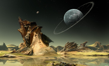 Wallpaper Science Fiction Planet Landscape