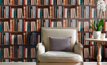 Wallpaper That Looks Like Bookshelves