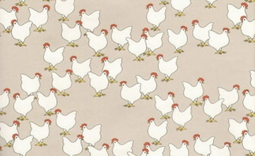 Wallpaper with Chicken Print