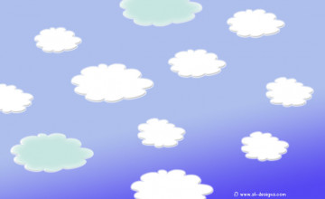 Wallpaper with Cloud Design