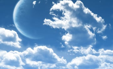 Wallpaper with Clouds
