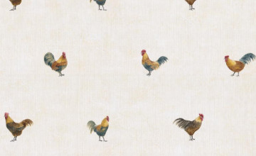 Wallpaper with Roosters