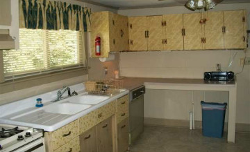 Wallpapered Kitchen Cabinet Doors