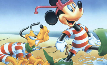 Walt Disney Characters Summer Wallpaper