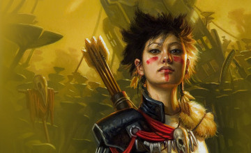 Warrior Girl Wallpaper