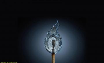 Water Flame Wallpaper