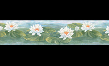 Water Lily Wallpaper Border