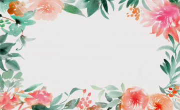 Watercolor Floral Wallpaper Border