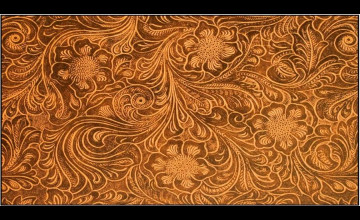 Western Tooled Wallpaper