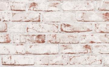 White Washed Brick Wallpaper