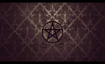 Wiccan Pentacle Wallpaper