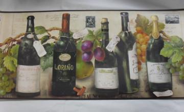 Wine Bottle Wallpaper Border