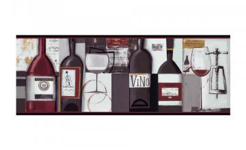 Wine Themed Wallpaper Border