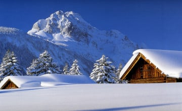 Winter Cabin Scenes Wallpaper