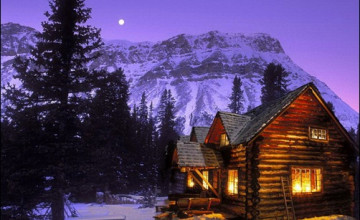 Winter Cabin Wallpaper for Desktop