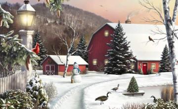 Winter Country Scenes Wallpaper