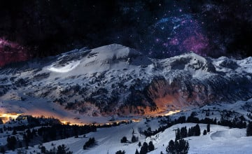 Winter Mountain Screensavers and Wallpaper