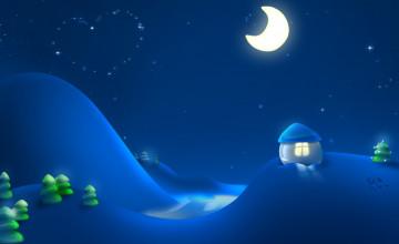 Winter Night Wallpaper