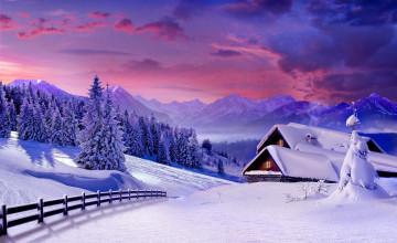 Winter Scenery Desktop Wallpaper
