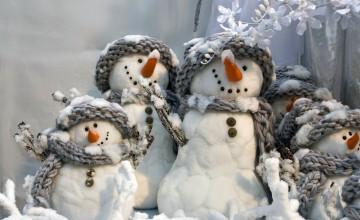 Winter Snowman Wallpaper