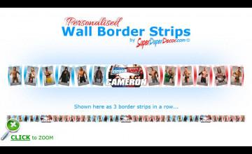WWE Wrestling Wallpaper Border