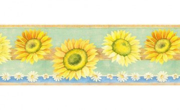 Yellow and Blue Wallpaper Border