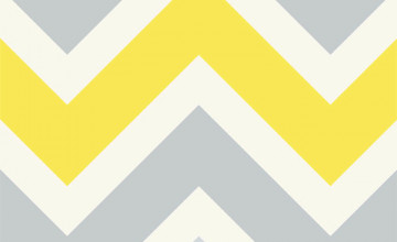 Yellow and Gray Chevron Wallpaper