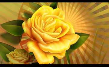 Yellow Roses Wallpaper