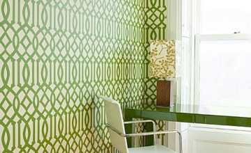 York Imperial Green Trellis Wallpaper