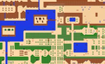 Zelda Map Wallpaper